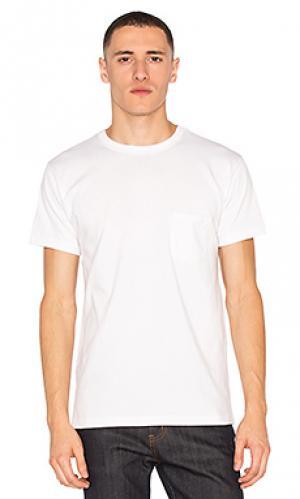 Тяжелые футболки с карманом набор 2 шт 3sixteen. Цвет: белый