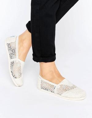 Toms Туфли с отделкой кроше Natural Moroccan. Цвет: бежевый