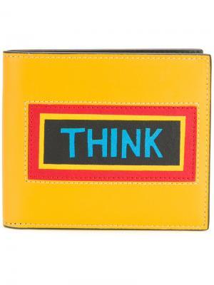 Кошелек Think Fendi. Цвет: жёлтый и оранжевый