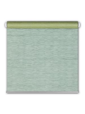 Штора рулон сизаль 3D 60x175 морская волна DECOFEST. Цвет: морская волна