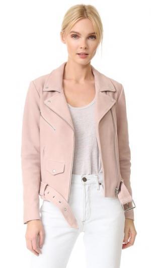 Замшевая куртка Jayne VEDA. Цвет: розовое облако