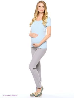 Брюки для беременных 40 недель. Цвет: светло-серый