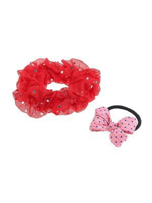 Комплект резинок для волос Gusachi. Цвет: красный, розовый, черный, синий