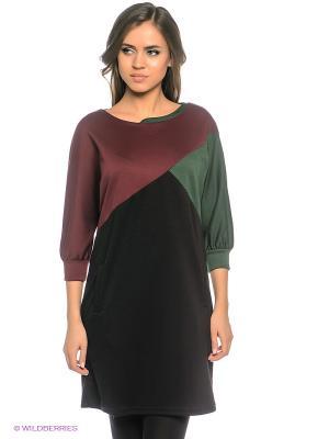 Платье DOCTOR E. Цвет: темно-зеленый, бордовый, черный