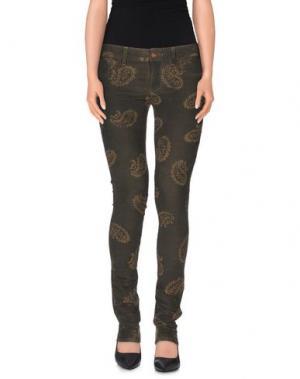Повседневные брюки REIGN. Цвет: темно-зеленый