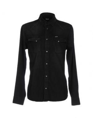 Джинсовая рубашка LIU •JO JEANS. Цвет: черный