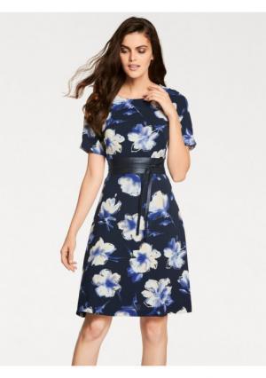 Платье PATRIZIA DINI. Цвет: темно-синий