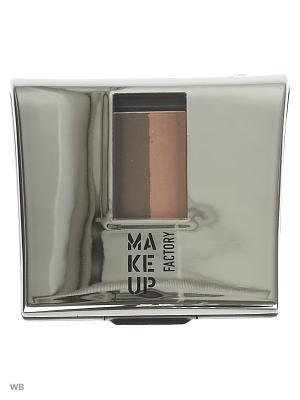 Тени-пудра Make up factory. Цвет: коричневый, бежевый