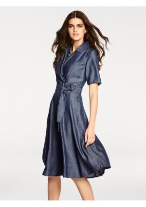 Платье PATRIZIA DINI. Цвет: синий деним