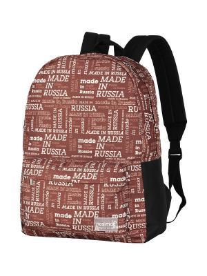 Рюкзак NOSIMOE. Цвет: коричневый, белый