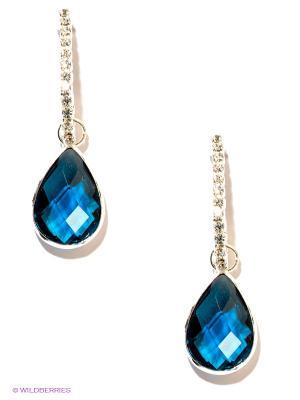 Серьги Royal Diamond. Цвет: темно-синий, серебристый