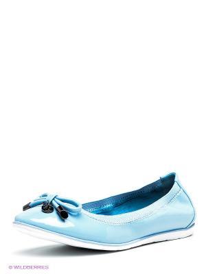 Балетки Betsy. Цвет: голубой