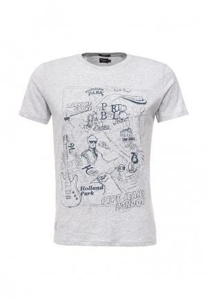 Футболка Pepe Jeans. Цвет: серый
