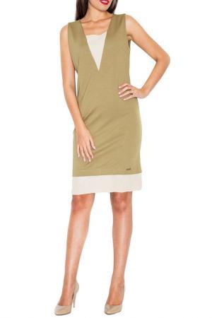 Платье KATRUS. Цвет: olive