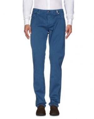 Повседневные брюки TRAMAROSSA. Цвет: цвет морской волны