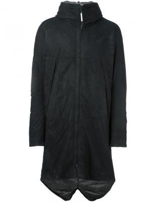 Кожаное пальто на молнии Isaac Sellam Experience. Цвет: чёрный