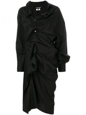 Платье шифт со сборками Junya Watanabe Comme Des Garçons. Цвет: чёрный