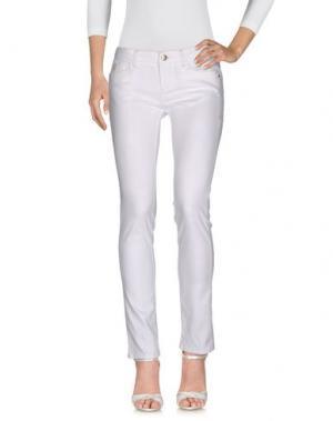 Джинсовые брюки D-21. Цвет: белый