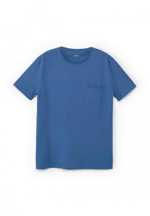 Футболка Mango Man. Цвет: синий