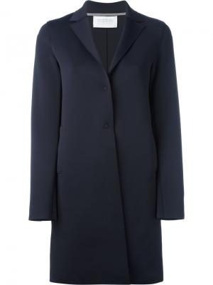 Однобортное пальто Harris Wharf London. Цвет: синий