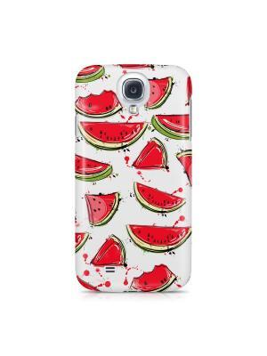 Чехол для Samsung S4 Арбузики Boom Case. Цвет: светло-зеленый, белый, красный