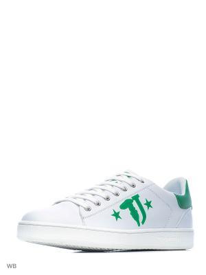 Кроссовки Trussardi. Цвет: белый, зеленый