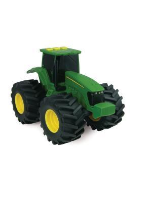 Трактор с большими колесами подсветкой и звуком TOMY.. Цвет: белый