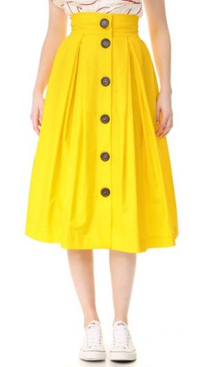 Юбка на пуговицах спереди A.W.A.K.E.. Цвет: желтый