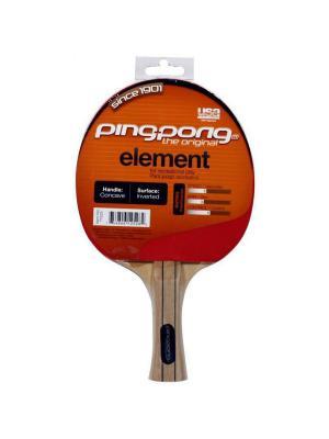 Ракетка для настольного тенниса Ping-Pong Element. Цвет: черный, красный
