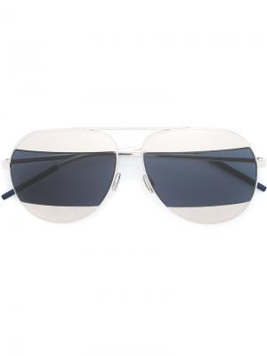 Солнцезащитные очки Split 1 Dior Eyewear. Цвет: металлический
