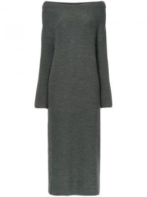 Длинное платье Cityshop. Цвет: серый