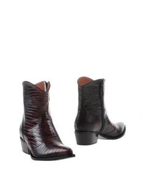 Полусапоги и высокие ботинки F.LLI BRUGLIA. Цвет: красно-коричневый