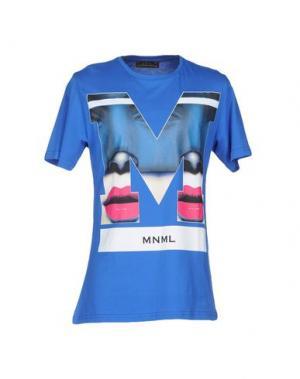 Футболка MNML COUTURE. Цвет: лазурный
