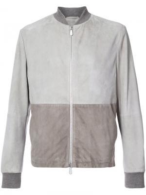 Panelled fitted jacket Eleventy. Цвет: серый