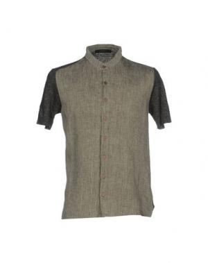 Pубашка VNECK. Цвет: серый