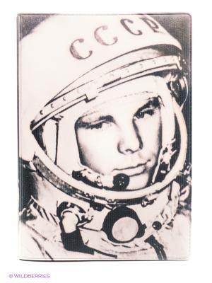 Обложка для автодокументов Гагарин Mitya Veselkov. Цвет: бледно-розовый, черный