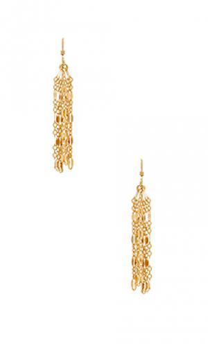 Серьги myra Mimi & Lu. Цвет: металлический золотой