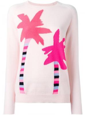 Джемпер Palm Tree Chinti And Parker. Цвет: розовый и фиолетовый