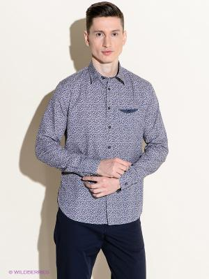 Рубашка 18CRR81 CERRUTI. Цвет: темно-синий, сиреневый