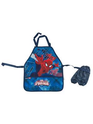 Фартук с нарукавниками.Spider-man Classic Spider-man. Цвет: голубой, красный