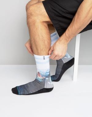 Stance Синие носки с акулами Landlord. Цвет: синий