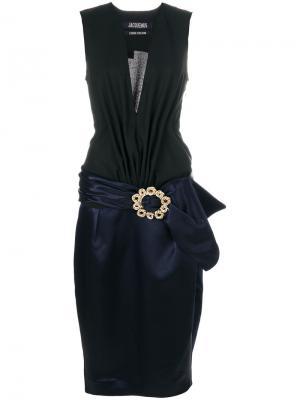 Платье с заниженным ремнем Jacquemus. Цвет: чёрный
