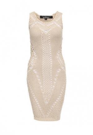Платье Brusnika. Цвет: бежевый