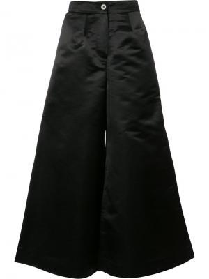 Широкие брюки Tome. Цвет: чёрный
