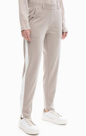 Бежевые брюки с карманами BLUE SEVEN. Цвет: бежевый