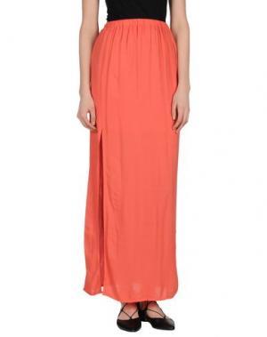 Длинная юбка MONICA •LENDINEZ. Цвет: коралловый