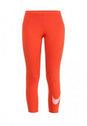 Тайтсы Nike. Цвет: оранжевый