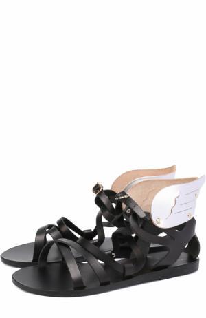 Кожаные сандалии Nephele с декором Ancient Greek Sandals. Цвет: черный