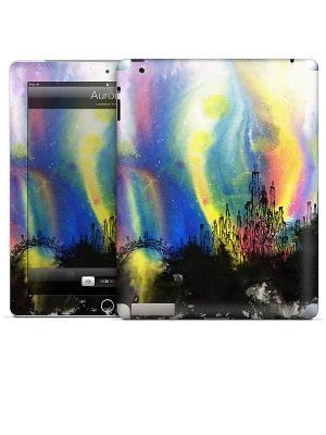 Виниловая наклейка для iPad 2,3,4 Aurora-Lawrence Yang Gelaskins. Цвет: синий, желтый