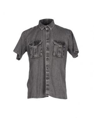 Джинсовая рубашка CHEAP MONDAY. Цвет: свинцово-серый